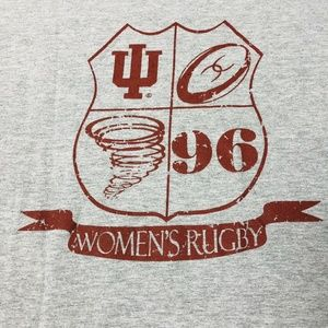 Indiana University Women's Rugby T-shirt Vintage